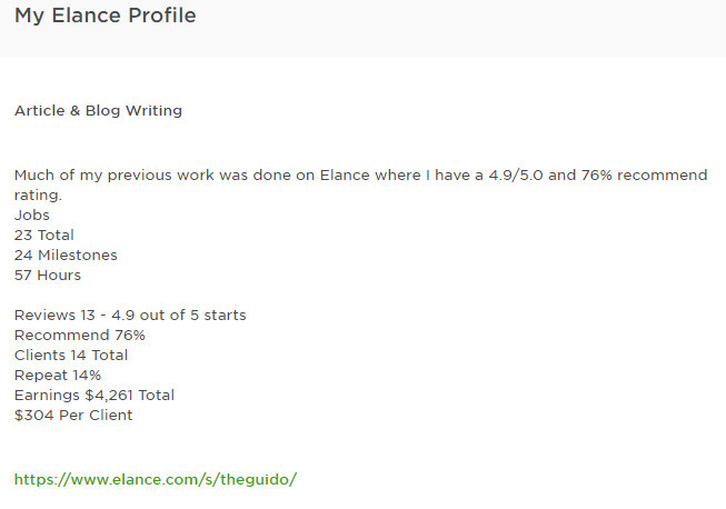 elance upwork freelance writing portfolio